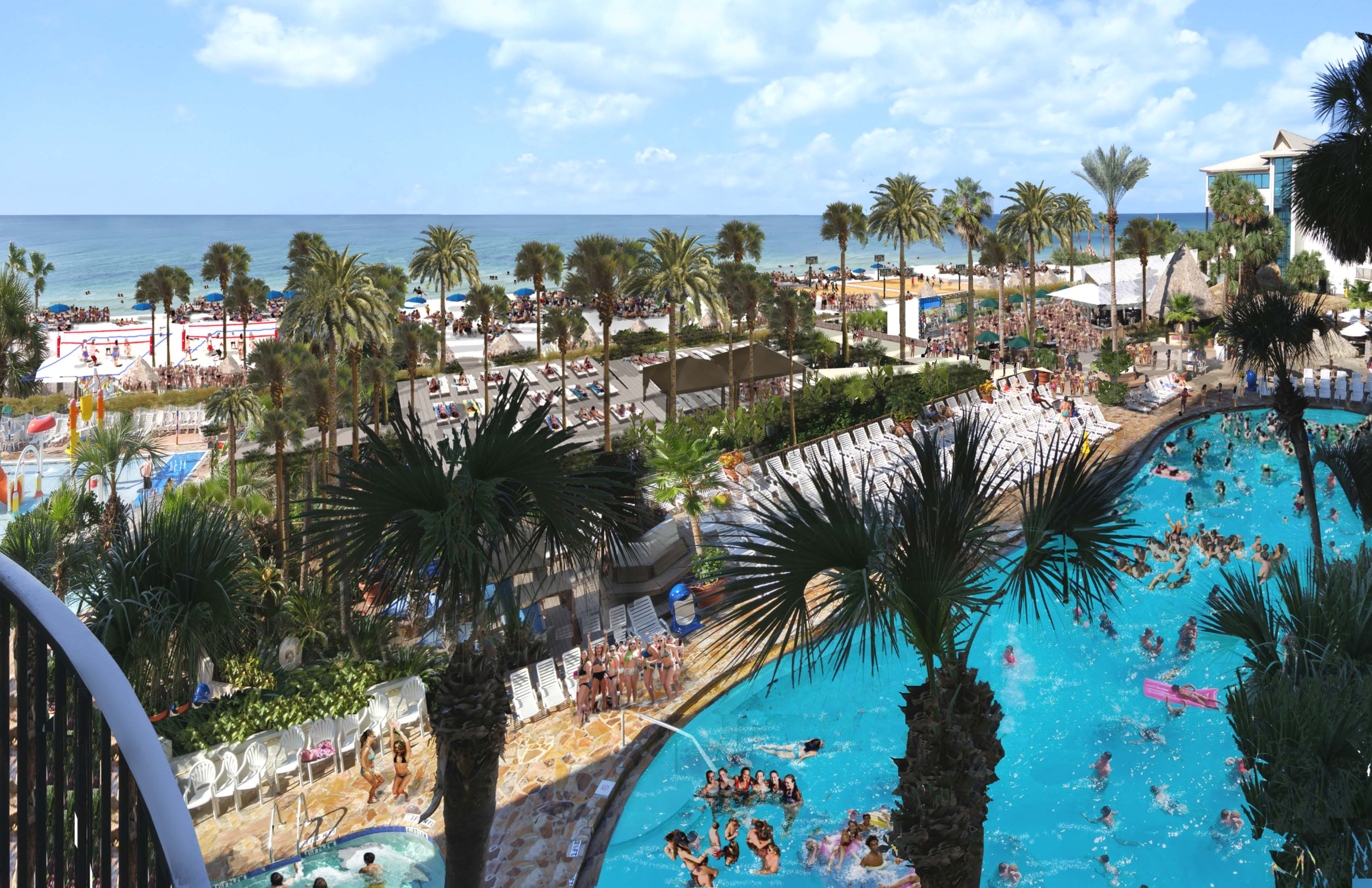 The Holiday Inn Resort Panama City Beach Gets A Really Deck For Spring Break 2016
