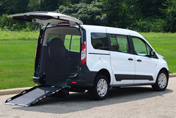 Ford Transit Connect wheelchair conversion.