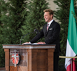 MR. DAVID MISCAVIGE, Chairman of the Board Religious Technology Center, was met with an impassioned reception upon taking the stage, from the thousands of Scientologists and guests on hand to dedicate the new Ideal Church of Scientology Milan.