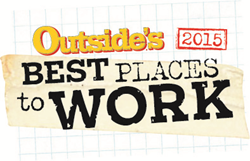 Outside's Best Places to Work 2015 badge