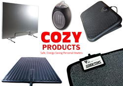 cozy products, low-watt heaters, low-watt heating, energy efficient heaters