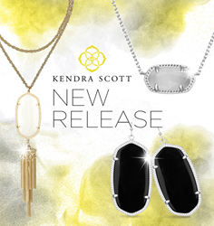 Image of Kendra Scott Earrings with black opal stones and 1 gold necklace with white opal stone and sterling silver necklace with grey stone