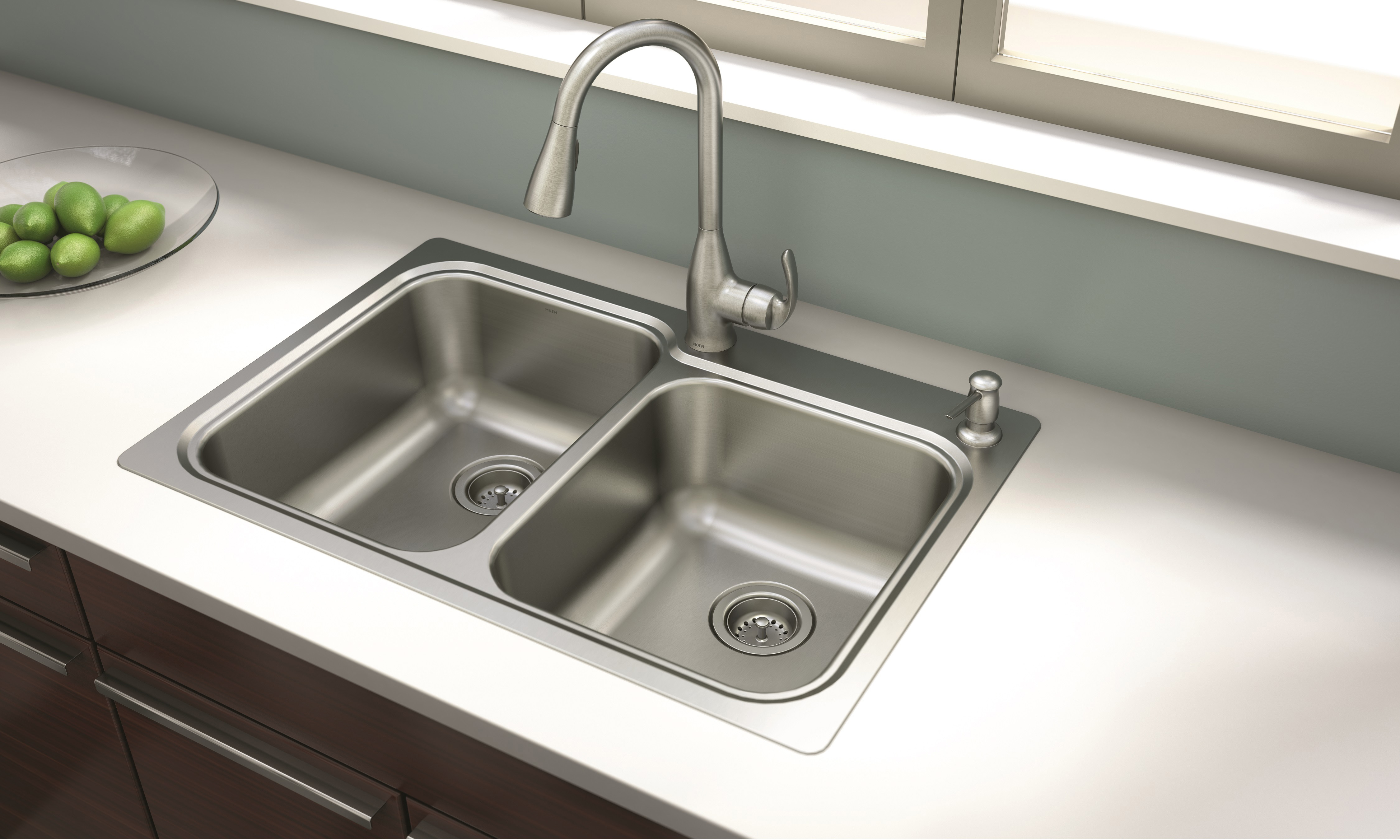 sink faucets kitchen new moen 174 kelsa faucet and sink combination offers 2260