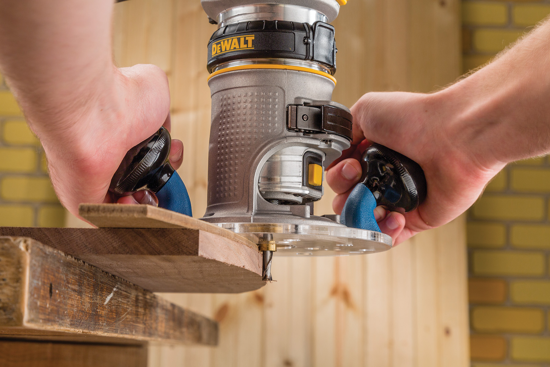 Rockler introduces 2 handled sub base for compact routers 6 woodworkers will discover that with the new compact router sub base from rockler template routing can be done quickly and precisely greentooth Choice Image
