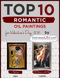 Top 10 Romantic Art for Valentine's Day