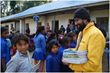 Volunteer Ministers presented notebooks to every school-aged child in the village of Aaru Pokhari.