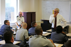 Mayor Riley teaching at The Citadel