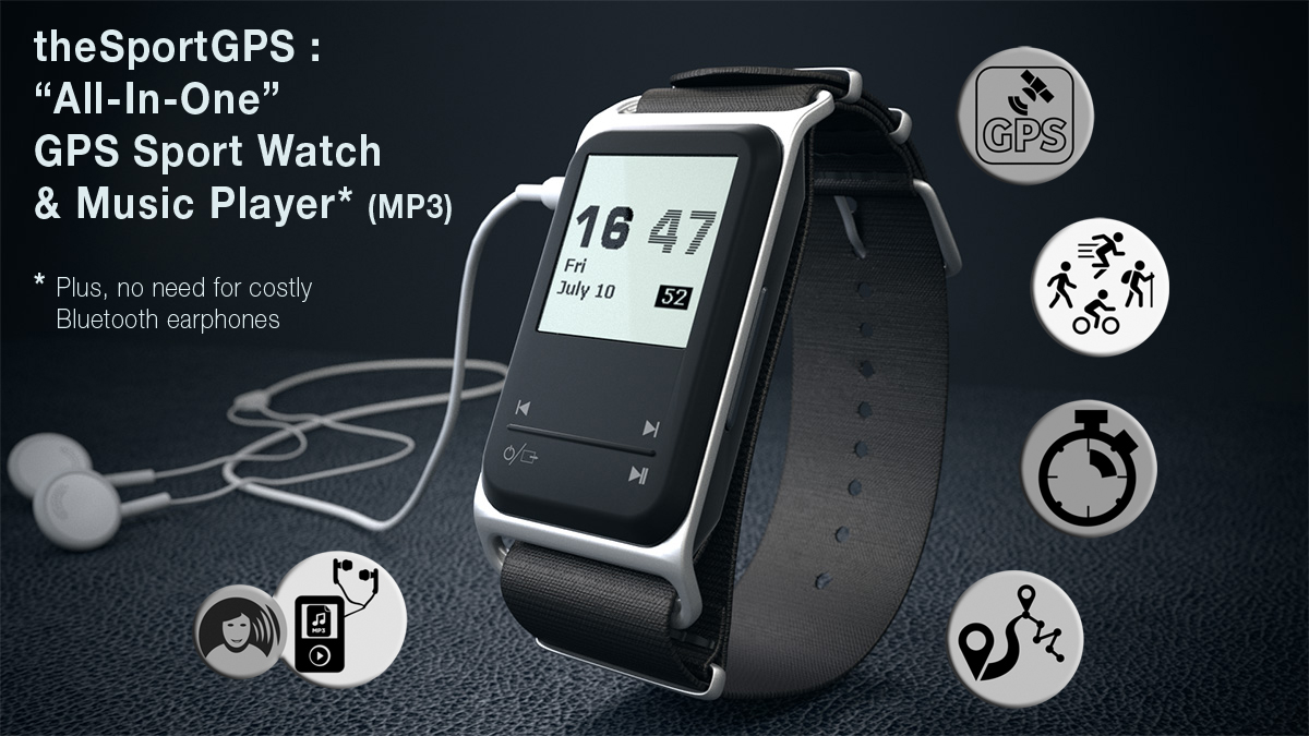theSportGPS, First Sports Watch with a MP3 Player, Started