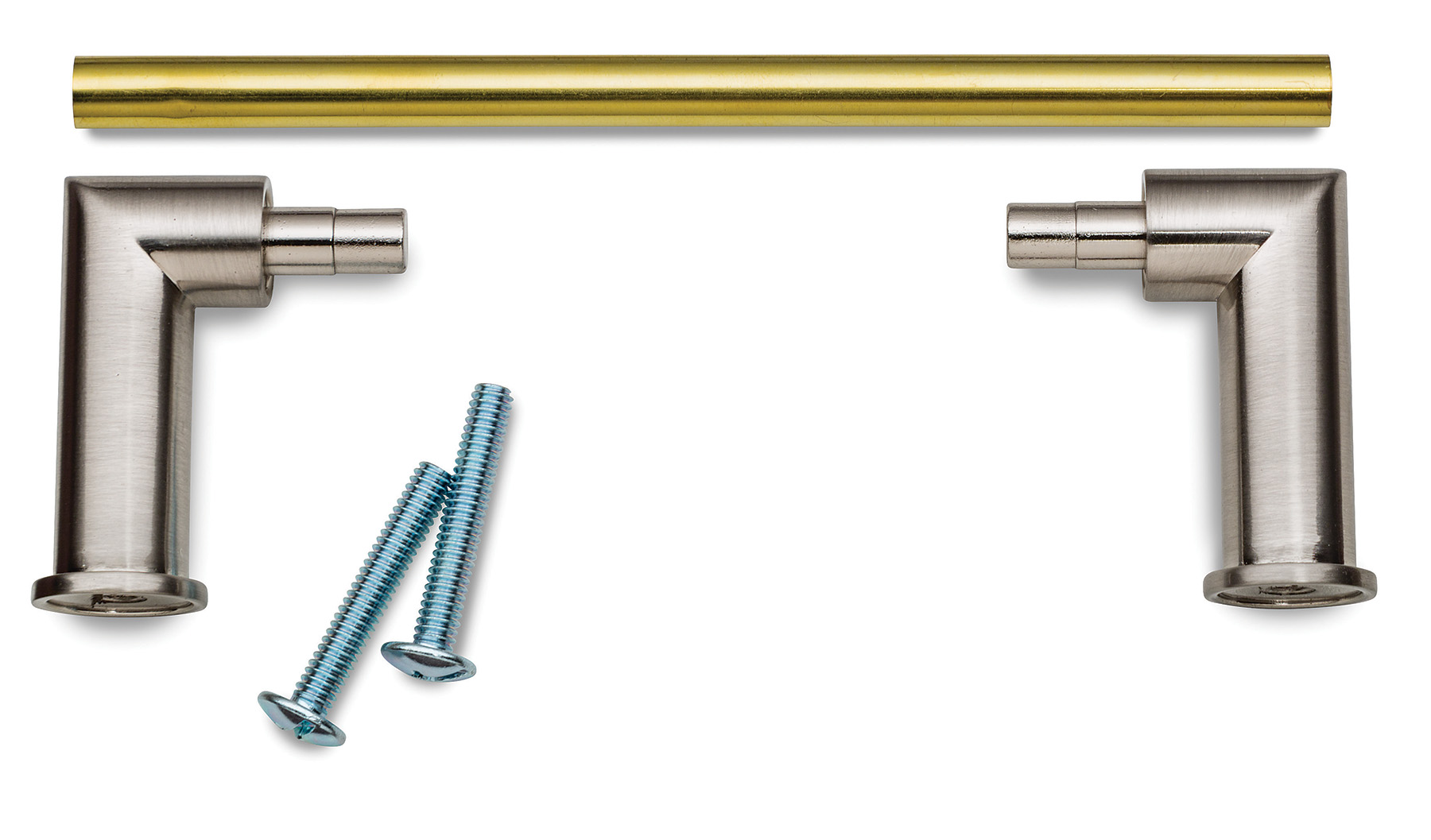 The Modern Custom Drawer Pull Kit Features Mounting Posts With A Brushed  Nickel Finish.