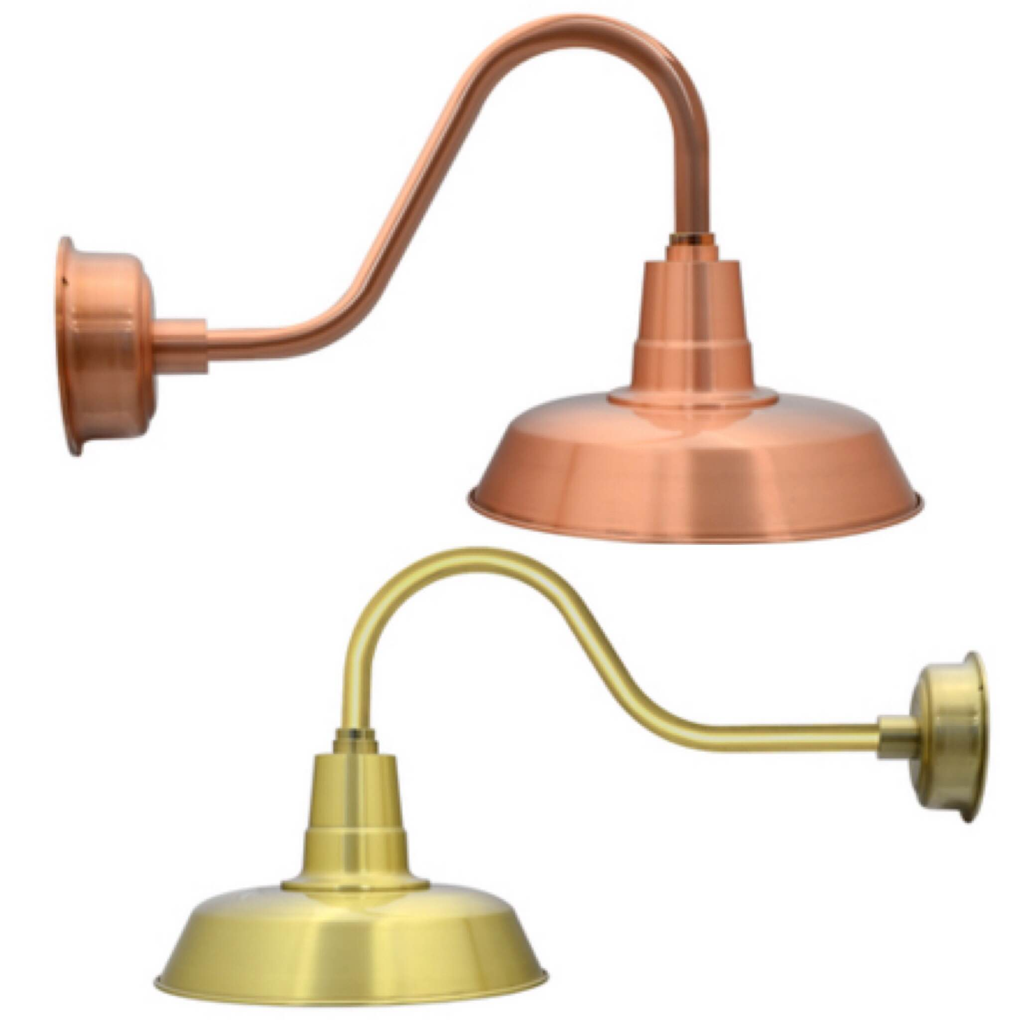 Brass And Copper Barn Lights