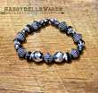 Silver & Glass Bracelet from SassyBelleWares,