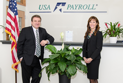 Frank and Mary VanWyk-Fiannaca celebrate 20 years as  owners of USA Payroll.
