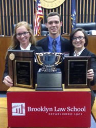 (L-R): Stetson's first-place team of Brittany Cover, Jeremy Rill and Kristina Hartman.
