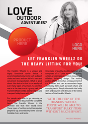The Franklin Wheel is a container invention which will provide a great deal of comfort and convenience for people transporting outdoor items.