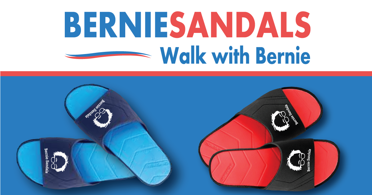 bernie sandals mobile marketing for bernie sanders supporters