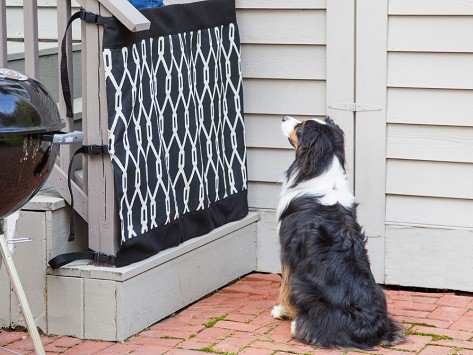 Indoor/Outdoor Safety Gate, OnyxSafety Gate Constructed With Weather And  Mildew Resistant Fabric For Use Indoors And Out