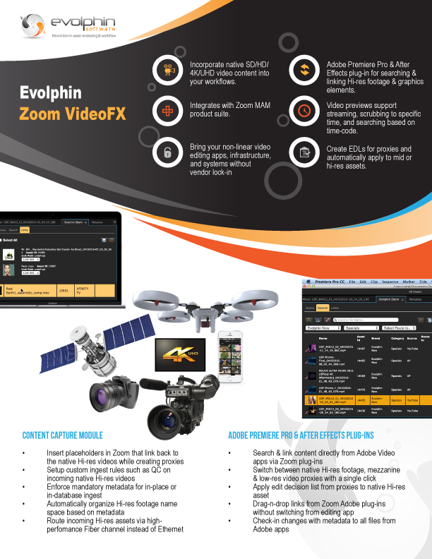 Evolphin Software Delivers Powerful New Video Capabilities