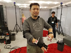 Dr. Tristan Dai, CTO of Noitom and creator of Project Alice at SVVR 2016.