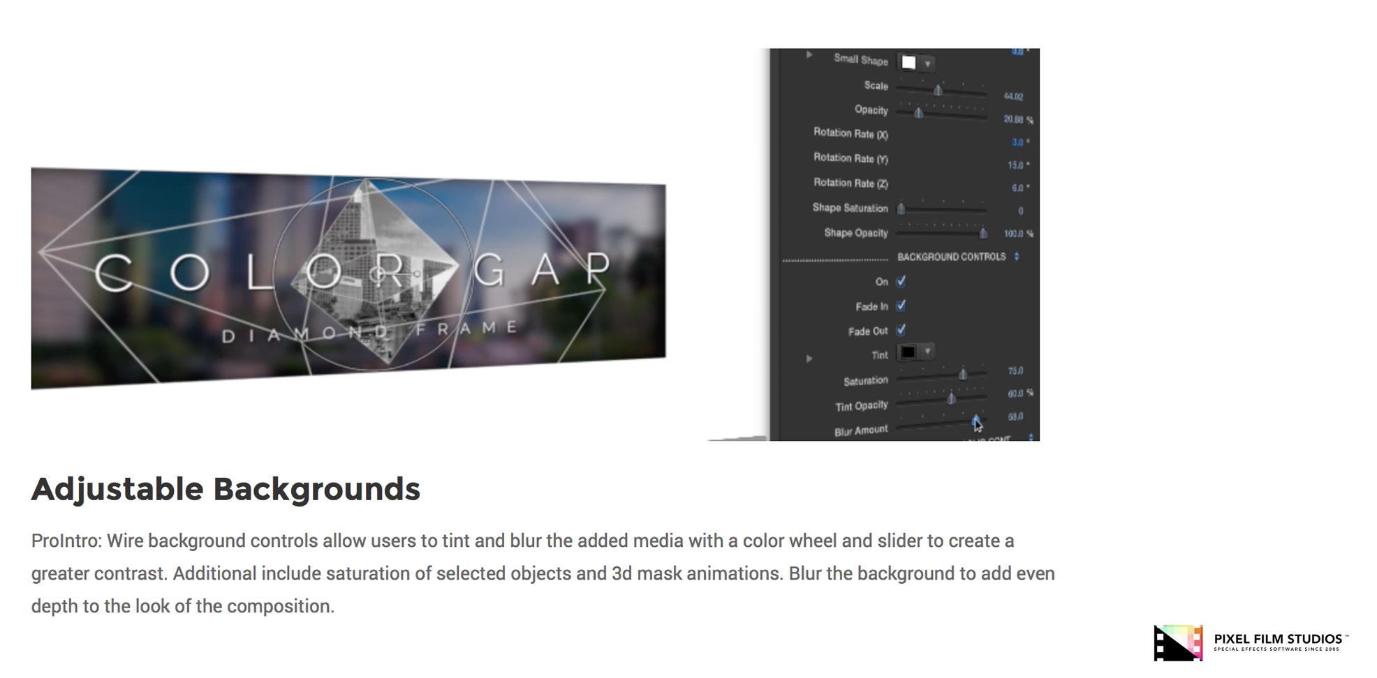 Pixel Film Studios Releases ProIntro Wire for Final Cut Pro X
