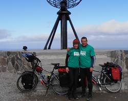 Sharon and Tim Bridgman at the start of their journey in 2012