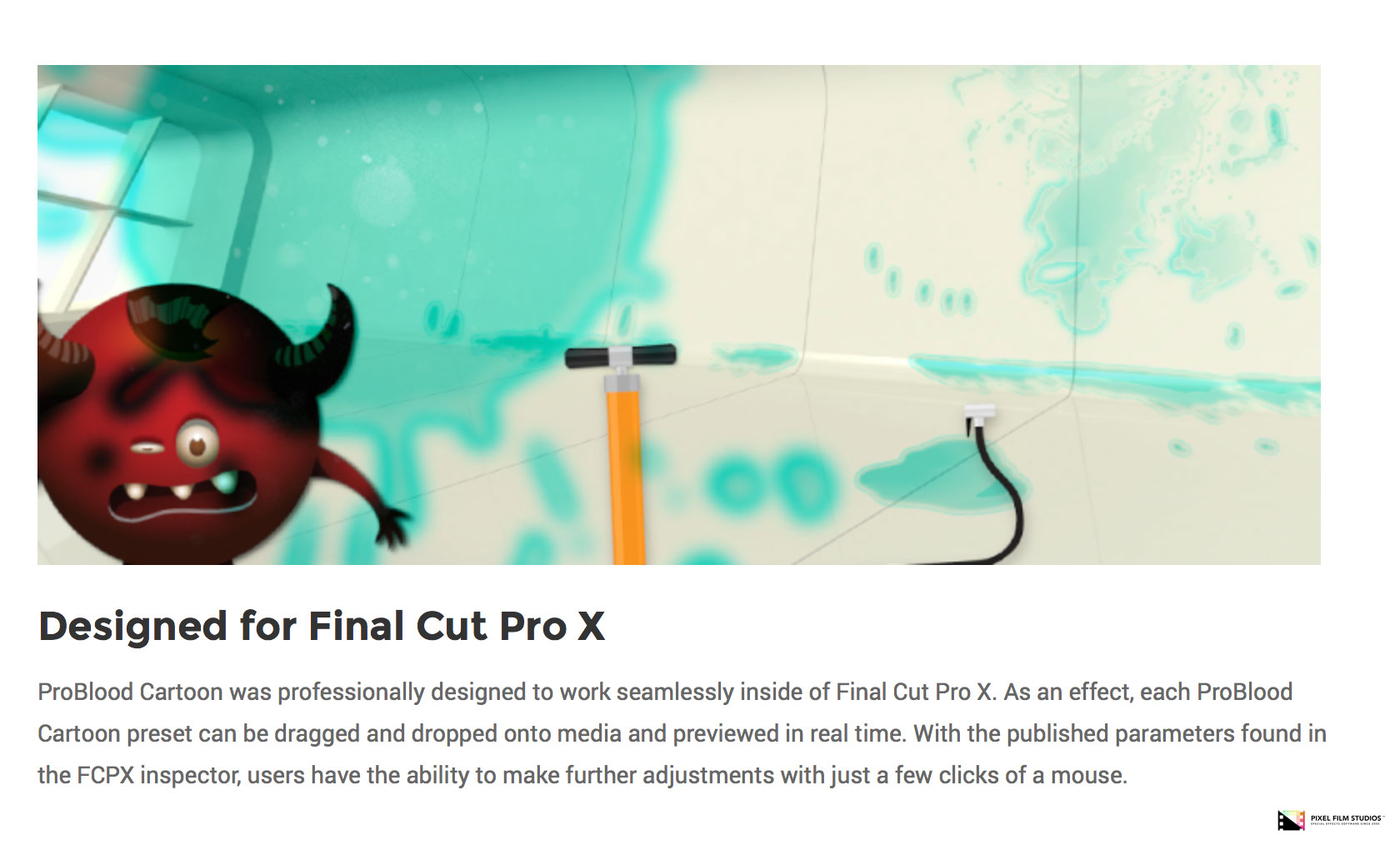 Pixel Film Studios Set to Release ProBlood Cartoon for Final Cut Pro X