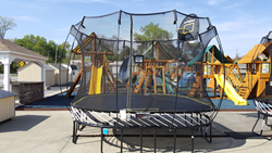 Spingfree featuring tgoma trampoline at Best in Backyards in Mahopac NY