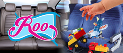 The Roo is a baby invention  perfectly designed to address having to constantly clean up the mess young children make when inside a vehicle.