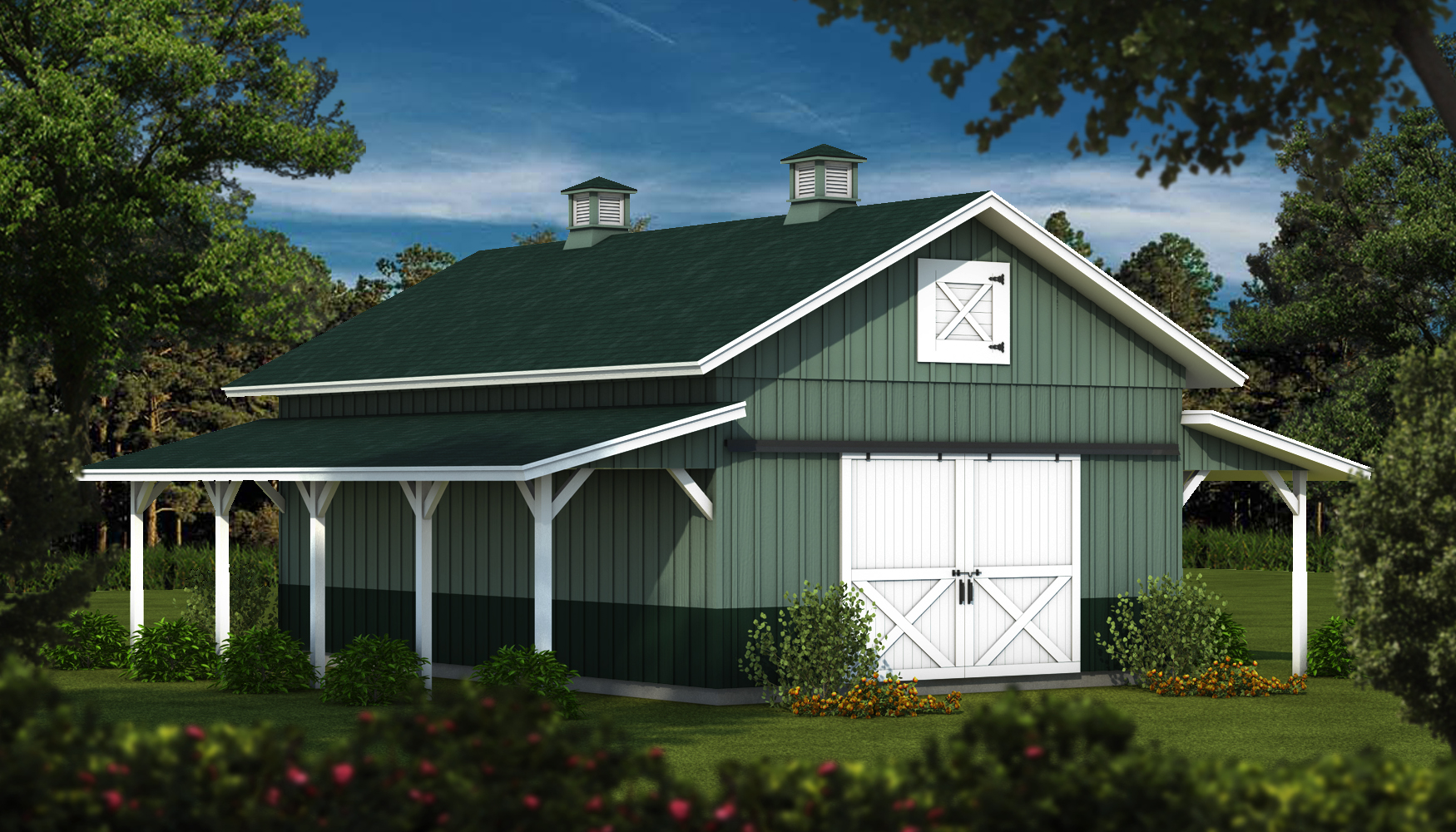 The Nebraskatimber Frame Wood Barn From Southland Log Homes