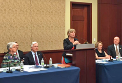 Salt Lake Community College President Deneece G. Huftalin speaks at a congressional briefing.