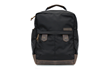 Bolt Backpack—black ballistic nylon with chocolate leather details