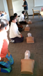 CHA students in CPR training