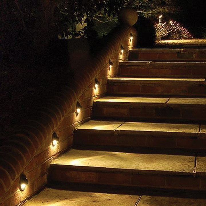 Lighting Basement Washroom Stairs: Outwater Introduces Deck Pro Lights, Hooded Stair Lights