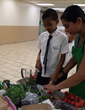 Hands-on interactive food education class