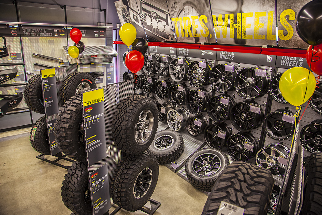 Four Wheeler With Rims: 4 Wheel Parts Celebrating 75th Store Grand Opening In