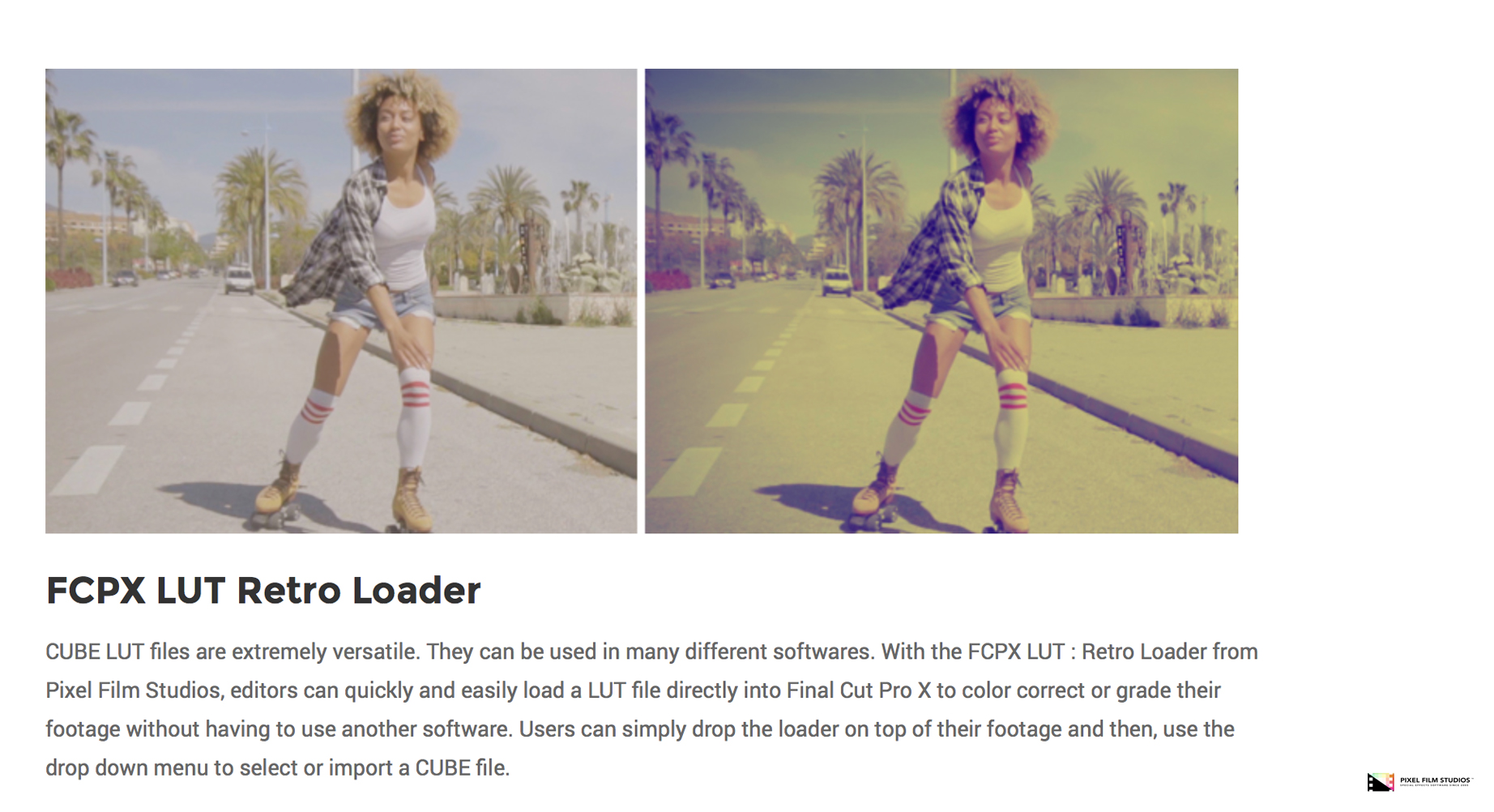 Pixel Film Studios Announced the Release of FCPX LUT Retro for Final ...