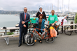 ShelterBox USA board member Jim Carriere, Jeri Fujimoto (incoming Rotary District Governor 5150), Chris Gallagher (Immediate past Rotary District Governor) and Tim Bridgman in Sausalito, CA 2016