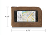 The Intrepid iPhone Travel Wallet—Small grizzly brown leather