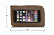 Intrepid iPhone 7 Travel Wallet—Large in grizzly leather