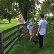 "Electra Mustaine shooting ""Life Is Good"" video on her farm (photo: Elizabeth Motley)"