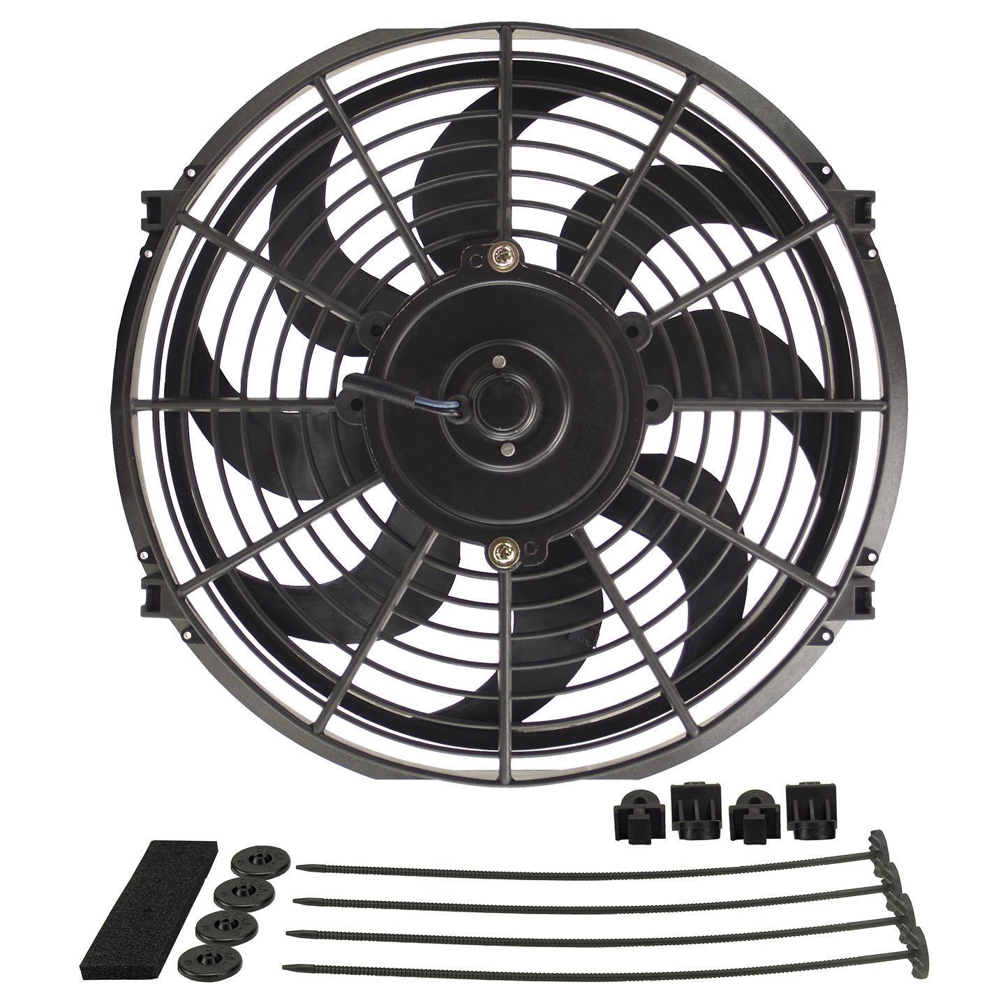 The Newest Derale Electric Fans Now Available At Summit Racing Equipment Single Fan Wiring Diagram Dyno Cool Series Curved Blade