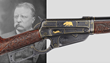 Rare Deluxe John Ulrich engraved Model 1895 Winchester rifle presented by Theodore Roosevelt featuring gold inlay, estimated at $75,000-125,000.