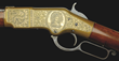 "Nimchke ""Bank Note"" engraved Winchester M66 with the image of Columbia, estimated at $200,000-300,000."