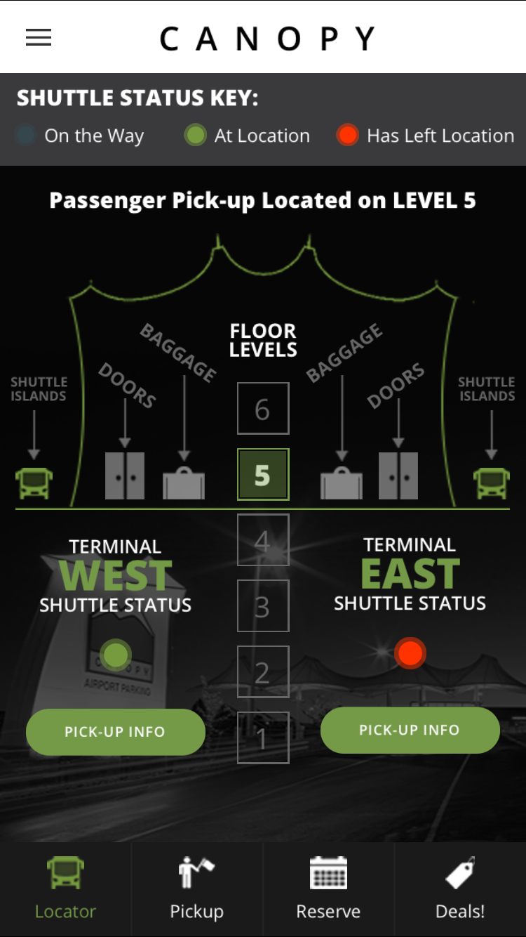 App Shuttle Tracking & Canopy Airport Parking Announces New Mobile App