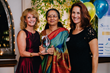 Save One Life founder Laureen Kelley and executive director Martha Hopewell with  2016 Inspiration Award winner Usha Parthasarathy