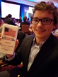 Aimclear's Mitch Larson receives the Young Search Professional Award during Pubcon 2016