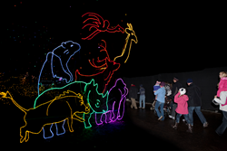 Denver Zoo's Zoo Lights will feature more than 150 animated animal sculptures within a safari of 60 brilliantly-illuminated acres of lights.
