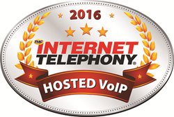 2016 INTERNET TELEPHONY Hosted VoIP Excellence Award