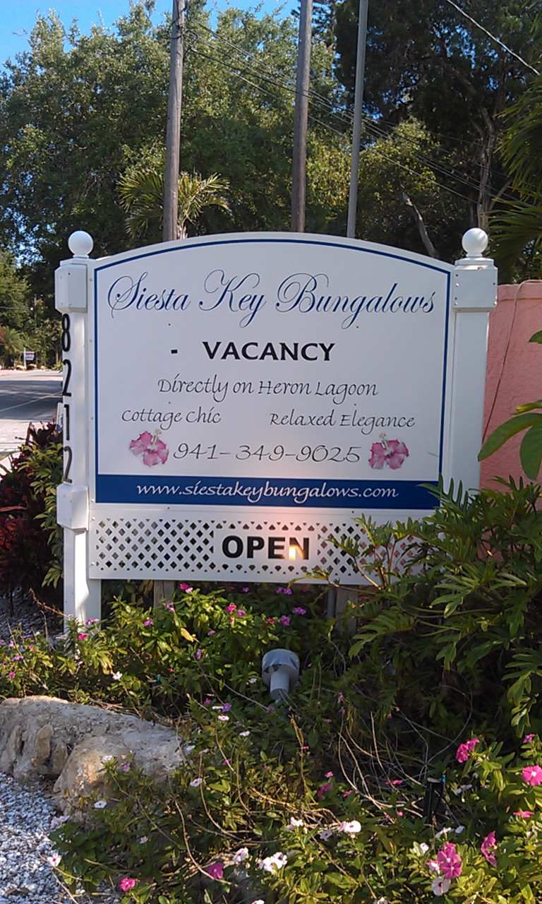 Siesta Key Bungalows Directly On Heron Lagoon