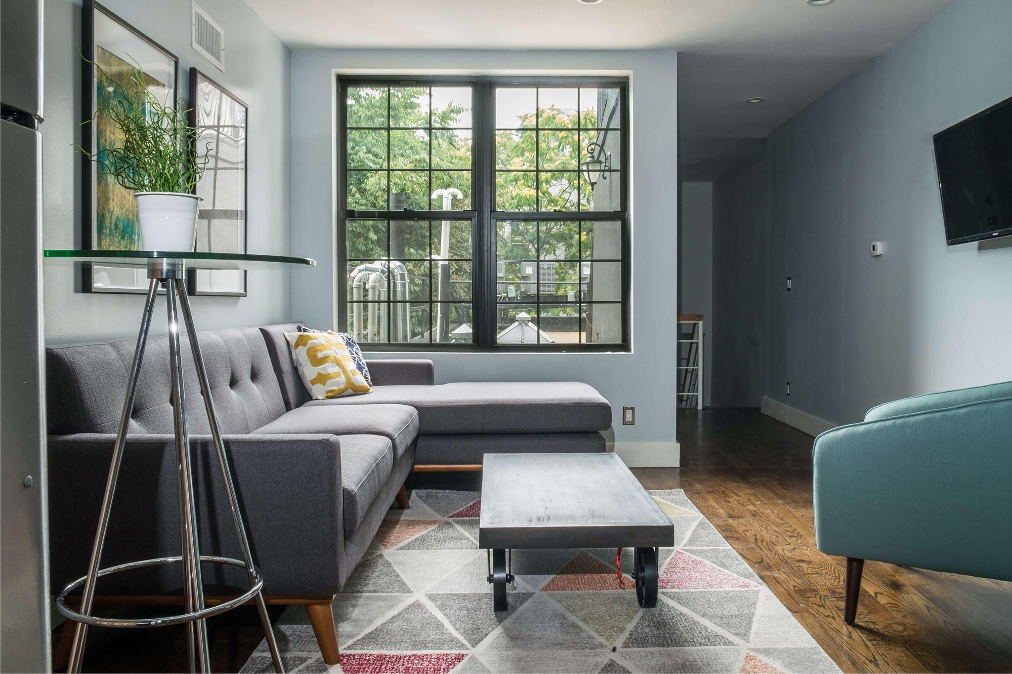 Mid Century Modern Bedroom Grey Bed