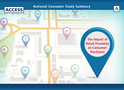 The Impact of Retail Proximity on Consumer Purchases details the results of a national consumer survey by Access Development.